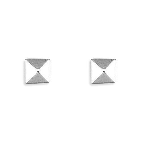 94fb094d7 Product Information. Categories: Silver Earrings, Silver Jewellery. £10.00. Sterling  silver small square pyramid stud .